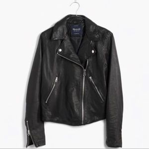 Madewell Washer Leather Motorcycle Jacket